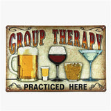 Alcohol Themed Metal Wall Signs
