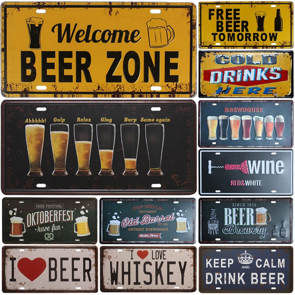 Whimsical wall signs