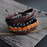 Multilayer Handmade Wristband Leather Bracelet