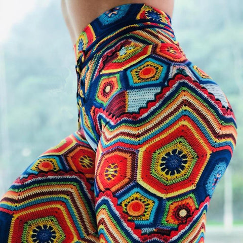 Colorful jacquard pants