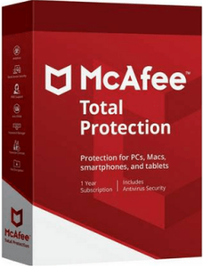 McAfee® Total Protection 2020 - 1 User - 1 Year - DVD with Free Postage Worldwide - only £24