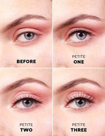Angie wears Petite One with Quick Lash Adhesive in Black