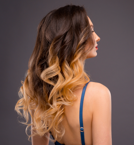 ombre blonde invisible clip in hair extensions