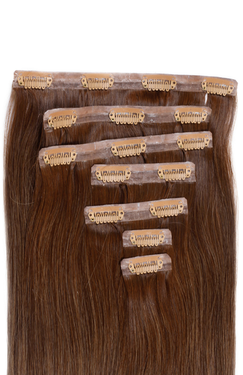 Invisi Clip-In Extensions Straight Ombré Chestnut (4/18)