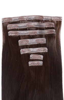 Invisi Clip-In Extensions Straight Brown #2 Clip-In