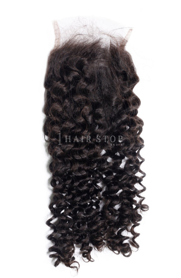 Curly hair lace closures