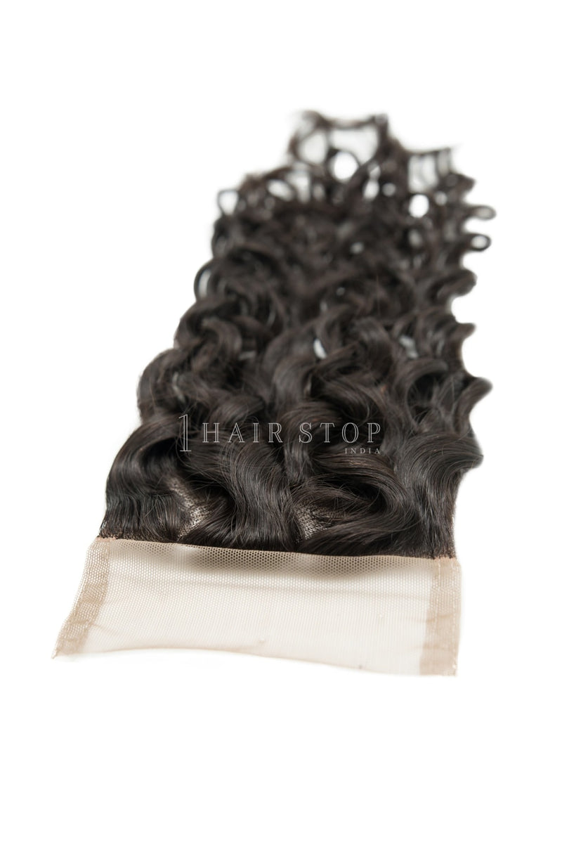 Curly Hair lace closure with bundles
