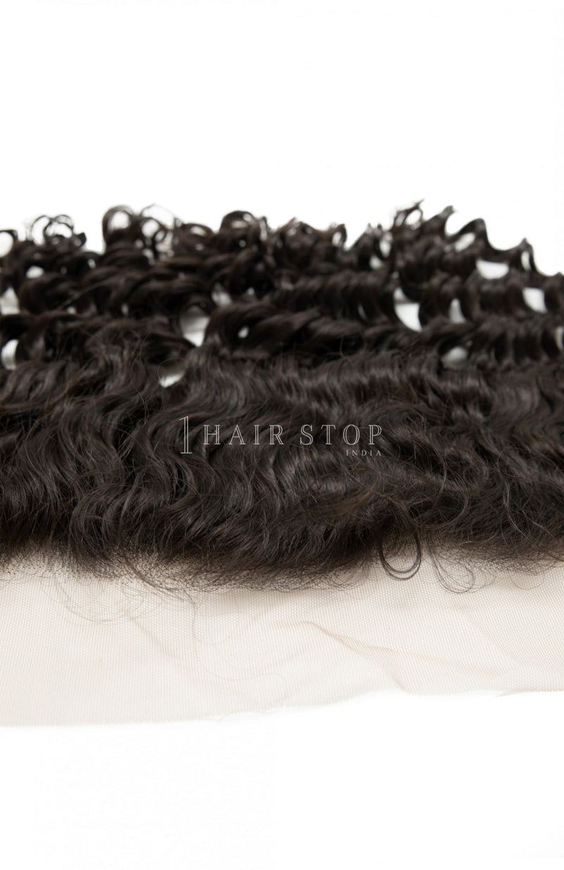 Brazilian Deep wave Lace Frontal With Bundles