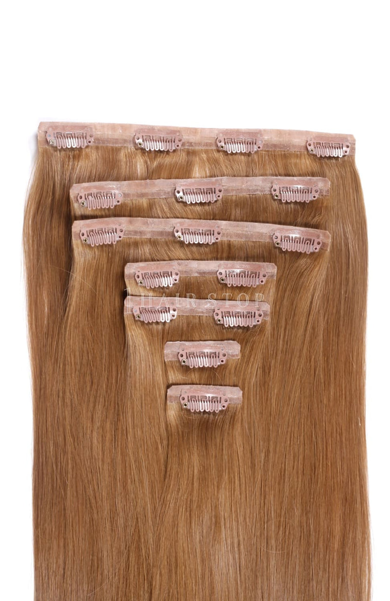 Invisi Clip-In Extensions Straight Brown #12 Clip-In