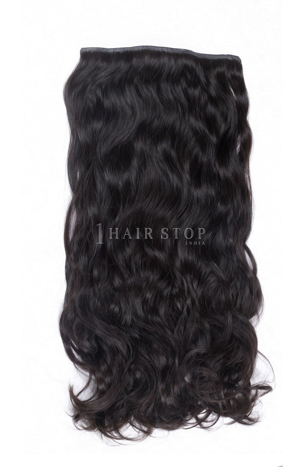 Invisi Clip-In Extensions Wavy Black #1B Clip-In