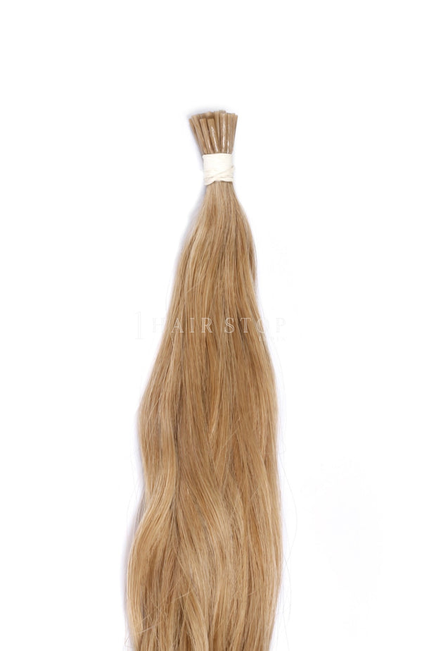 Blonde micro loop hair extensions