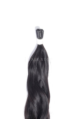i-tip Extensions in black wavy