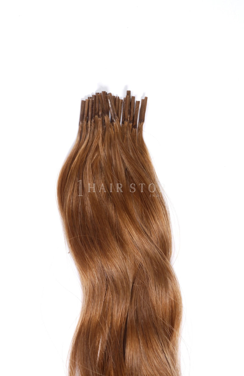 Keratin Extensions Wavy Brown #12