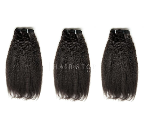 Mink Brazilian Kinky Straight Hair 3 Bundle Deal Deals