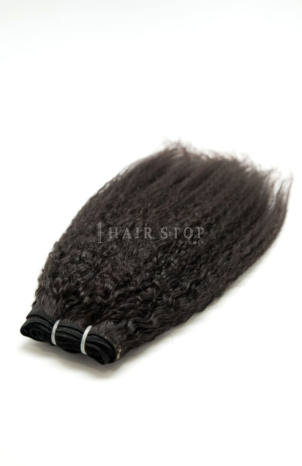 Kinky Straight Hair Wefts