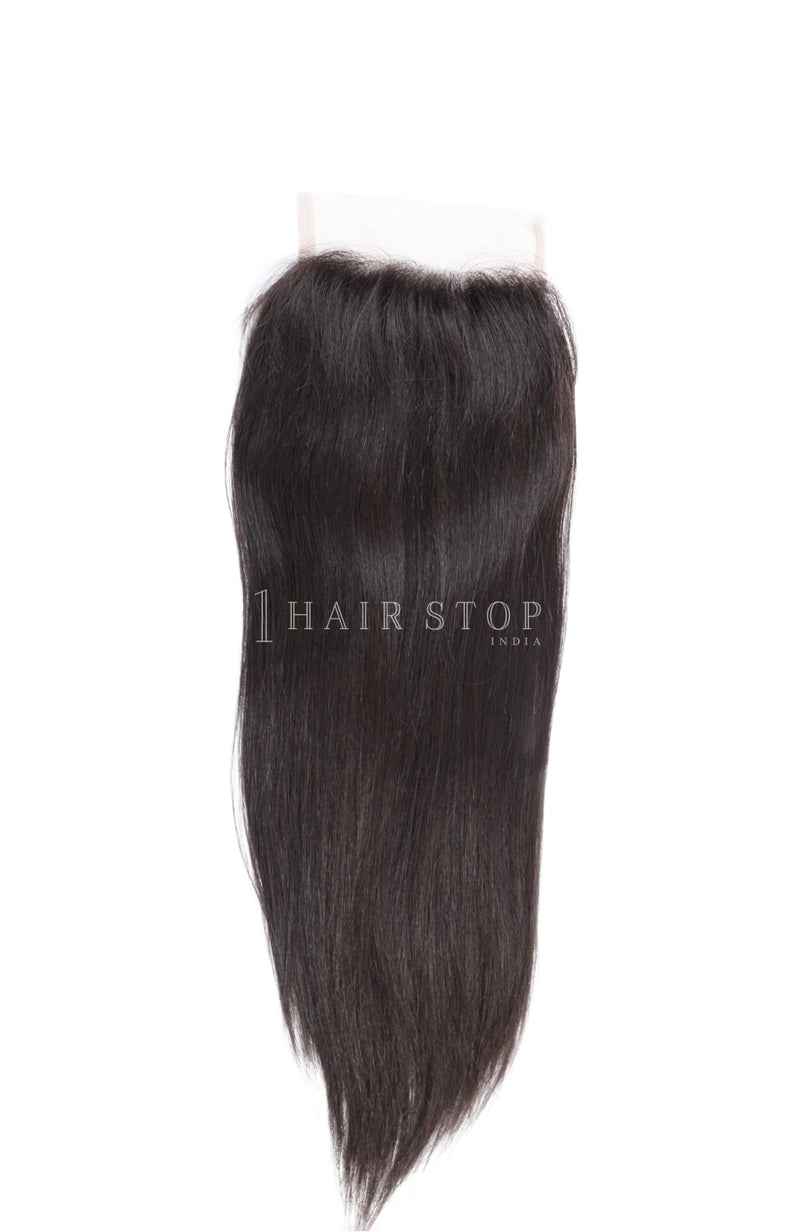 5x5 lace closures in indian straight hair
