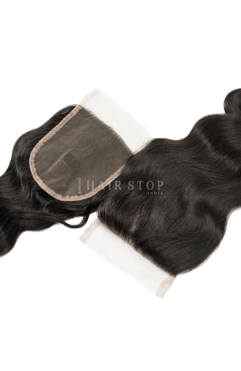 Brazilian Loose Wave swiss lace closures with bundles