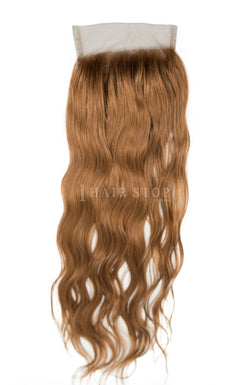 Brown swiss lace closure