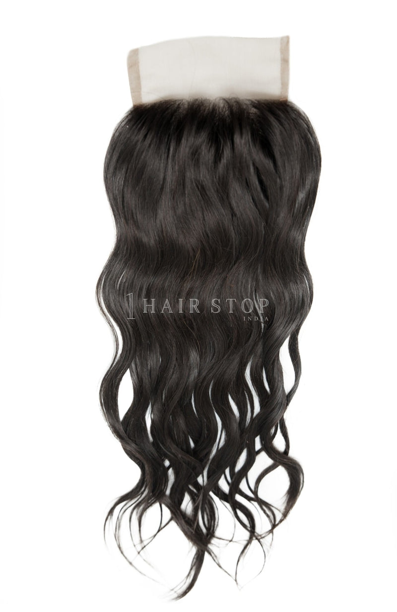 Lace closure wavy indian hair