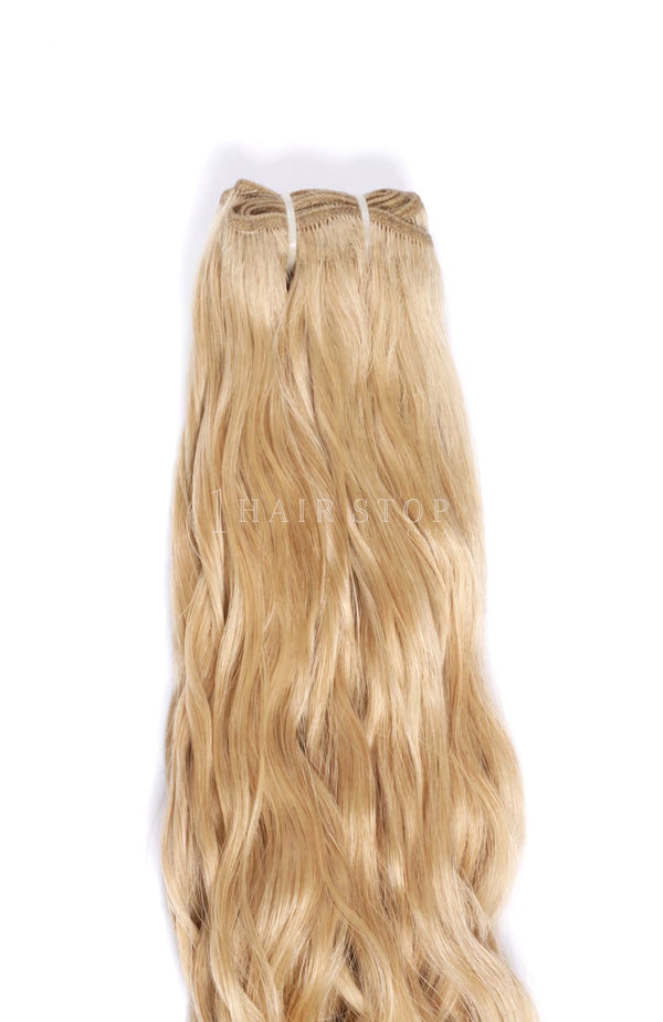 Machine weft hair Blonde