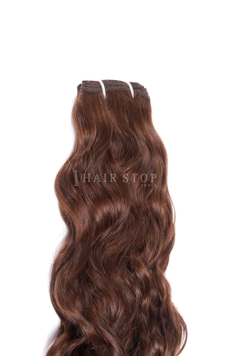 Natural Wavy Brown #4 Bundles Texture