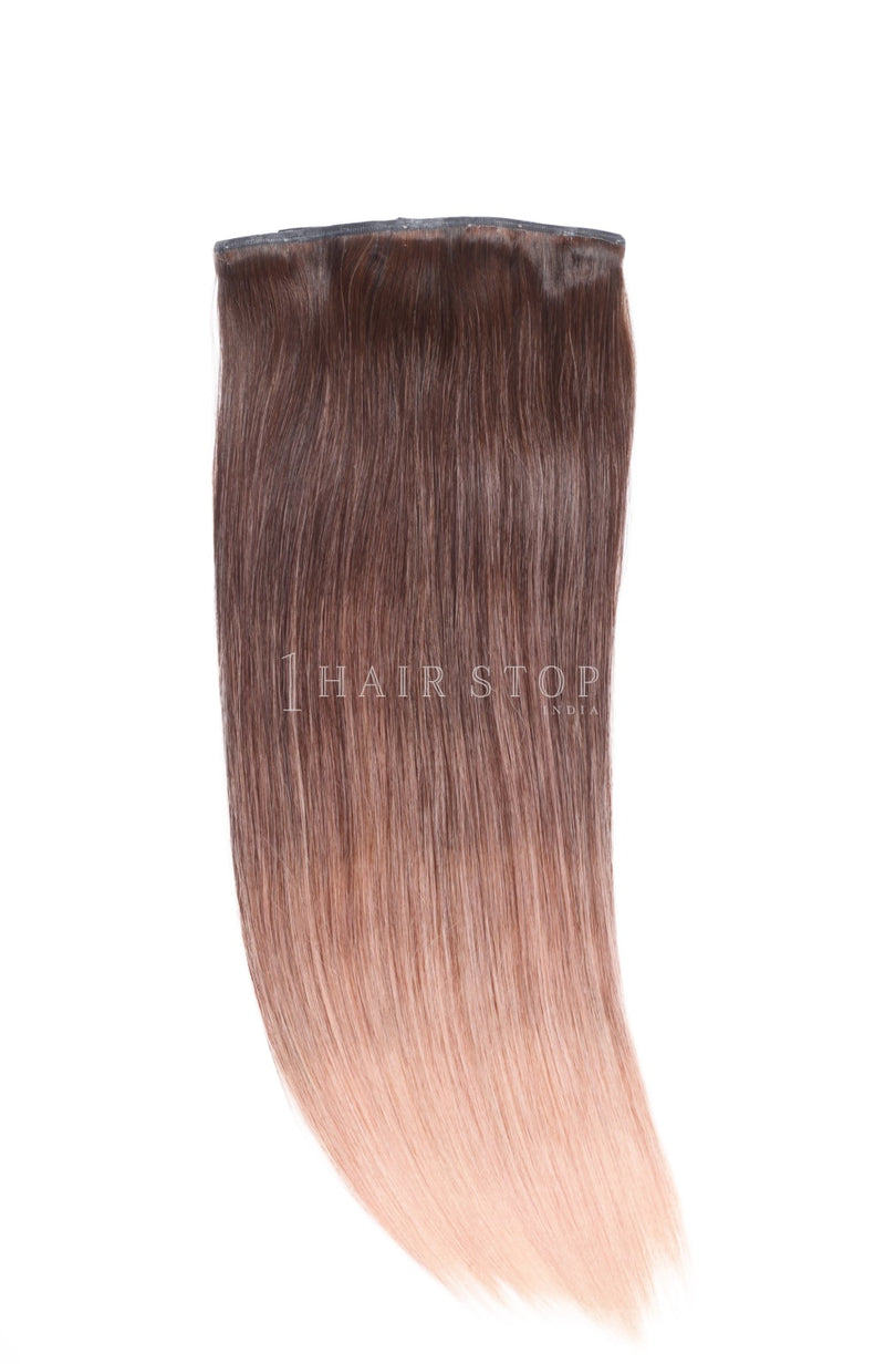 Invisi Clip-In Extensions Straight Ombré Blush Pink Clip-In