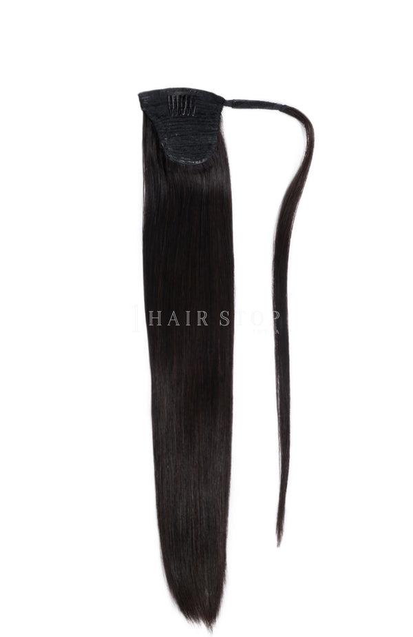 Wrap Ponytail Extensions Straight Black #1B