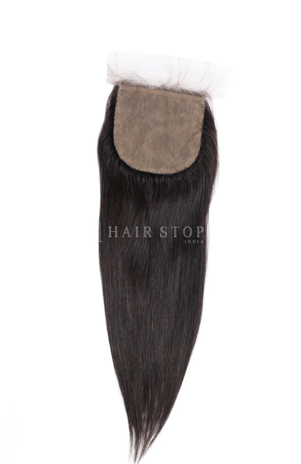 Silk closure straight with hair weaves