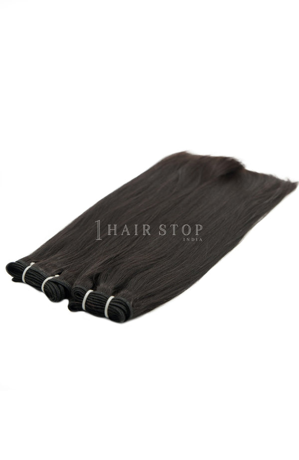 Mink Brazilian Straight Virgin Hair 3 Bundles With Lace Closure