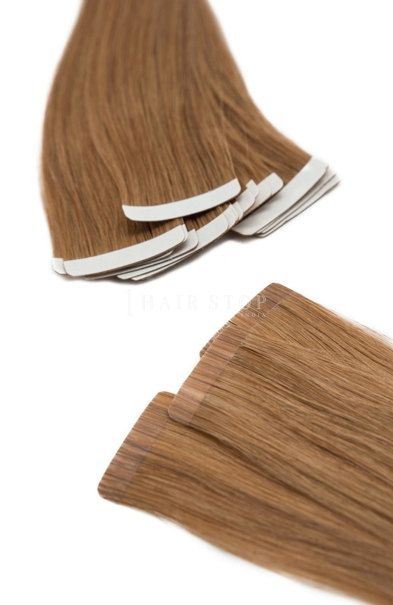 Tape-in extensions for straight hair