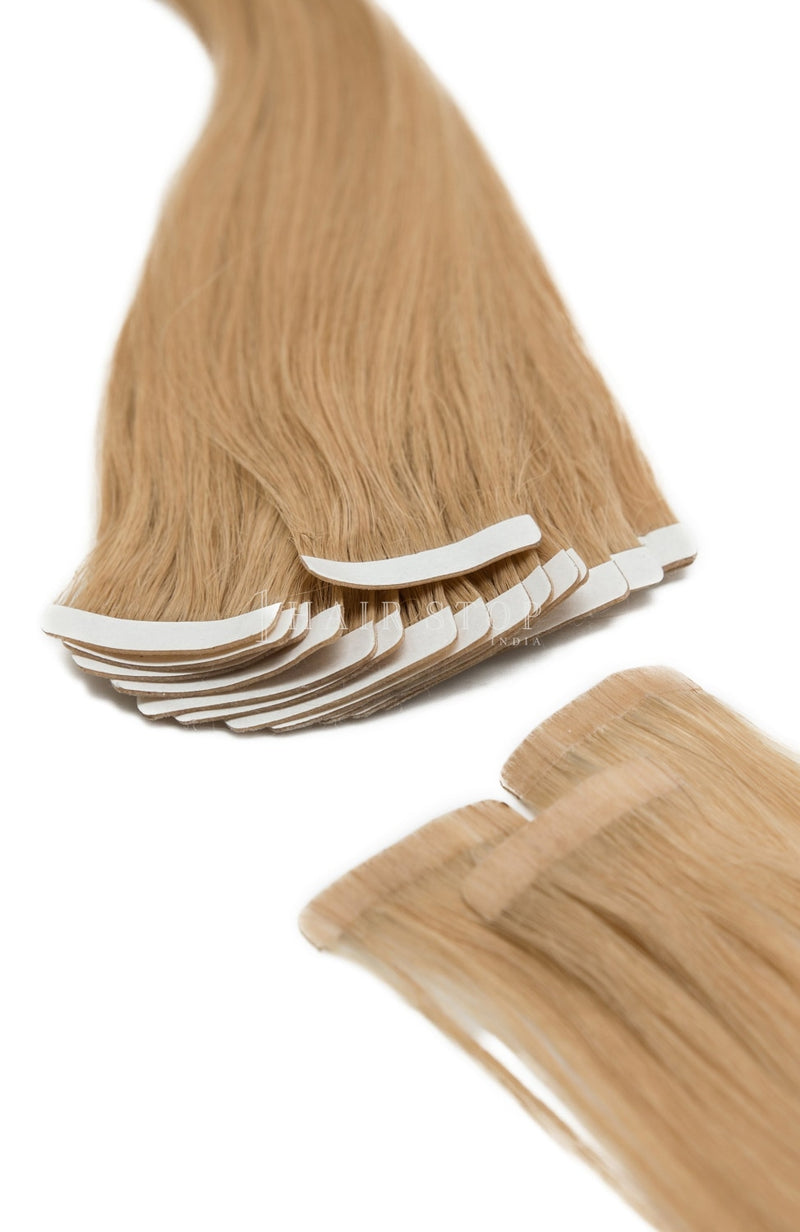 Blonde tape in extensions
