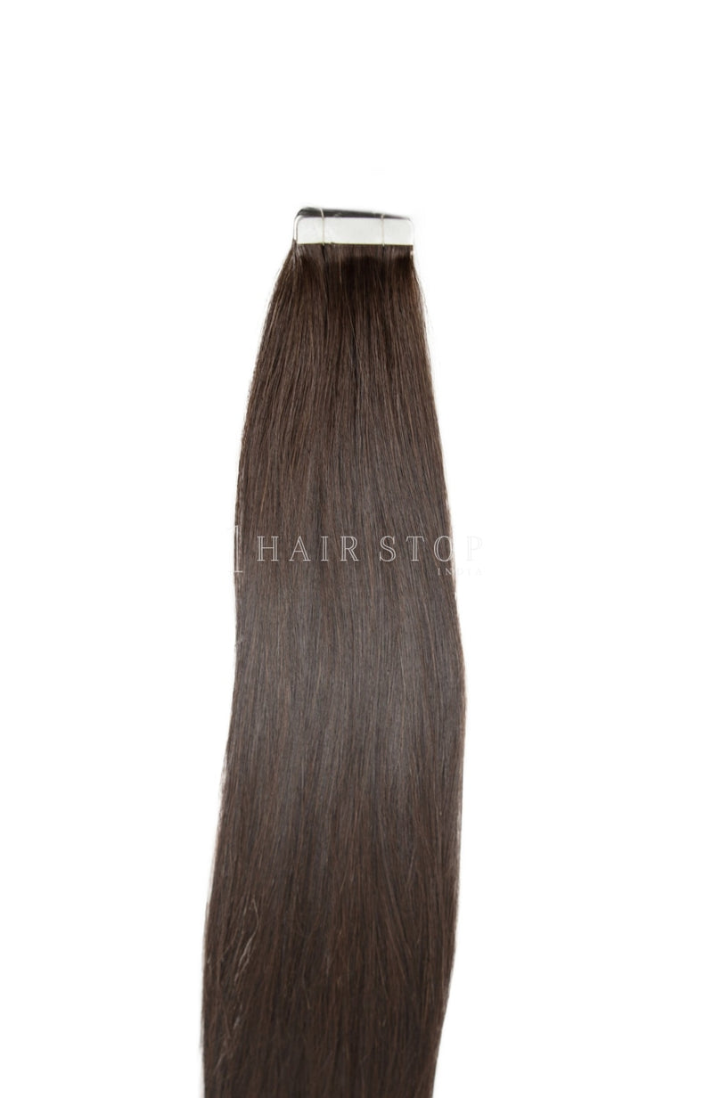Tape-In Extensions Straight Brown #3