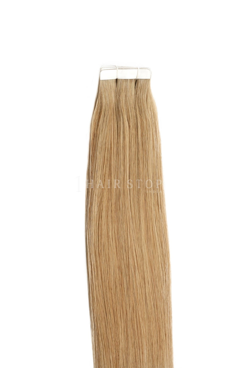 Dirty Blonde Human Hair Tape in extensions