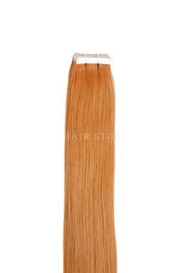 Orange Human Hair Tape in Extensions