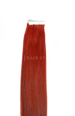 True Red Tape-in Human Hair Extensions