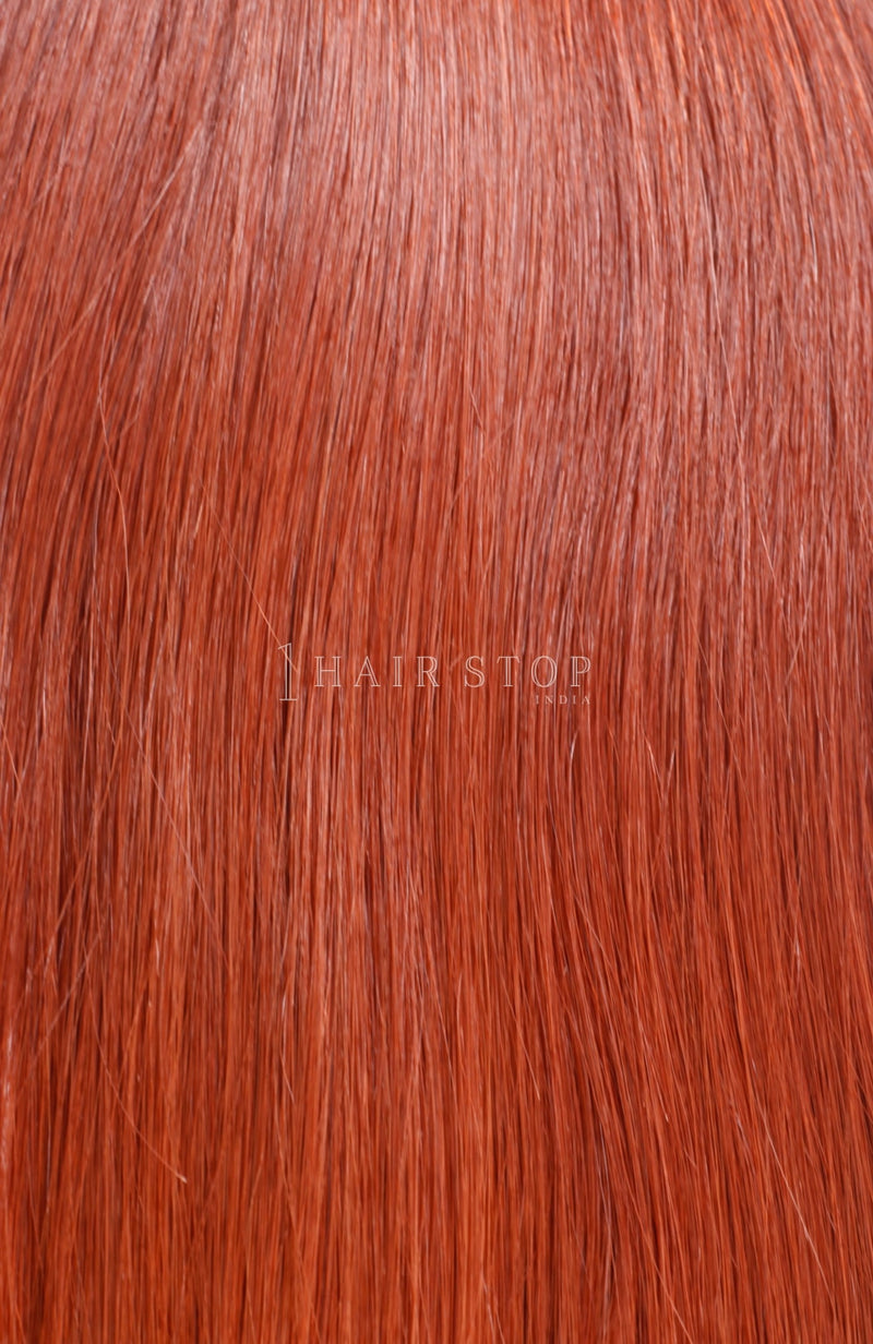 Red Tape-in Human Hair Extensions