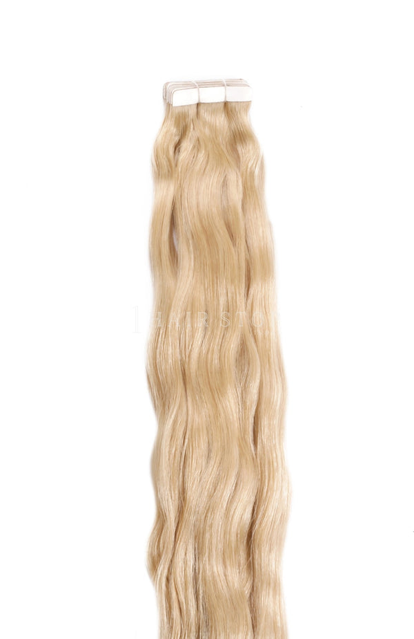 Golden Human Hair Tape-in Extensions