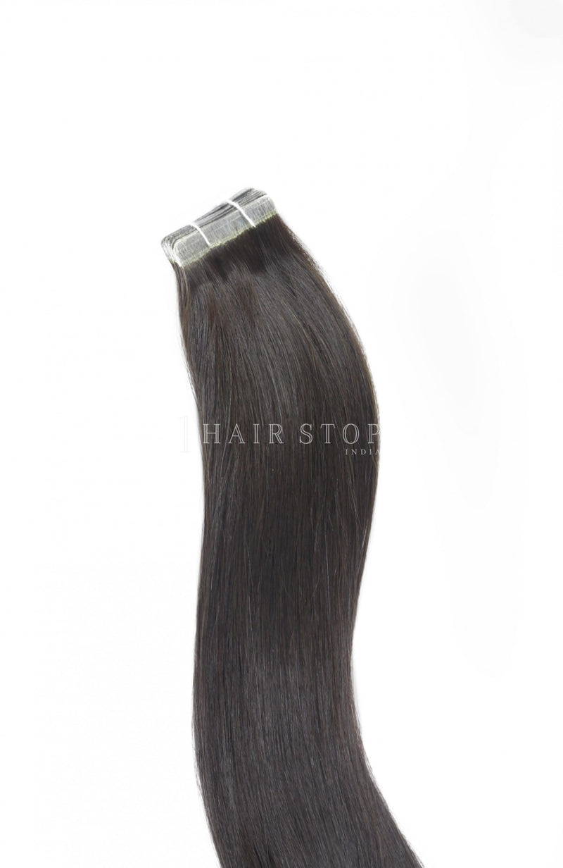 Tape-In Extensions Straight Natural Black (1B)