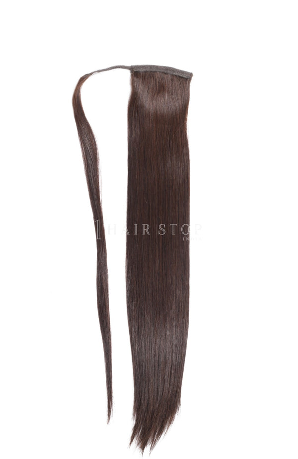Wrap Ponytail Extensions Straight Dark Brown #2
