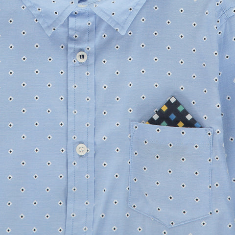Boys Blue Polycotton Shirt