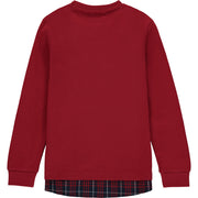 Baby Boys Burgundy Cotton Top