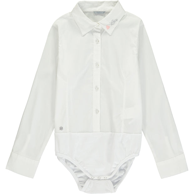 Girl Smart Shirt Bodysuit