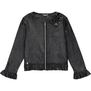Girls Black Sparkly Jacket