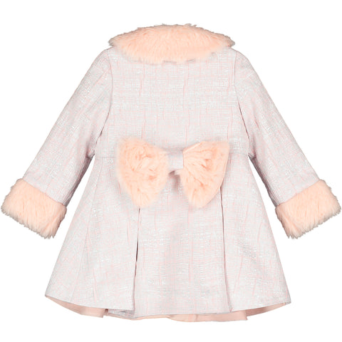 Girls Dress and Jacket Set with Faux Fur