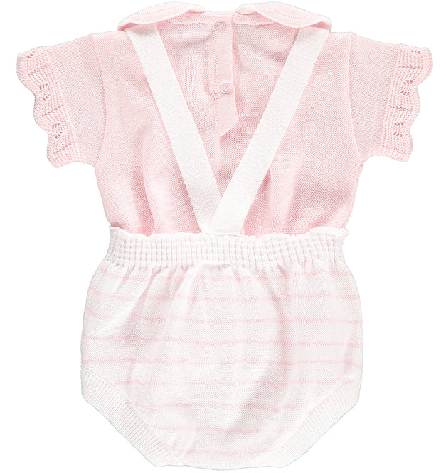 Pink Knitted Shortie Set