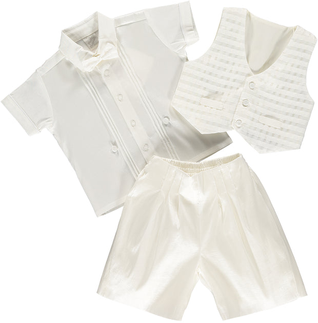 Baby Boy Ivory Set Suit - 3 Piece