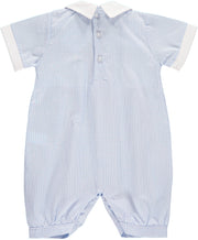 Baby Boy Blue Smocked Romper