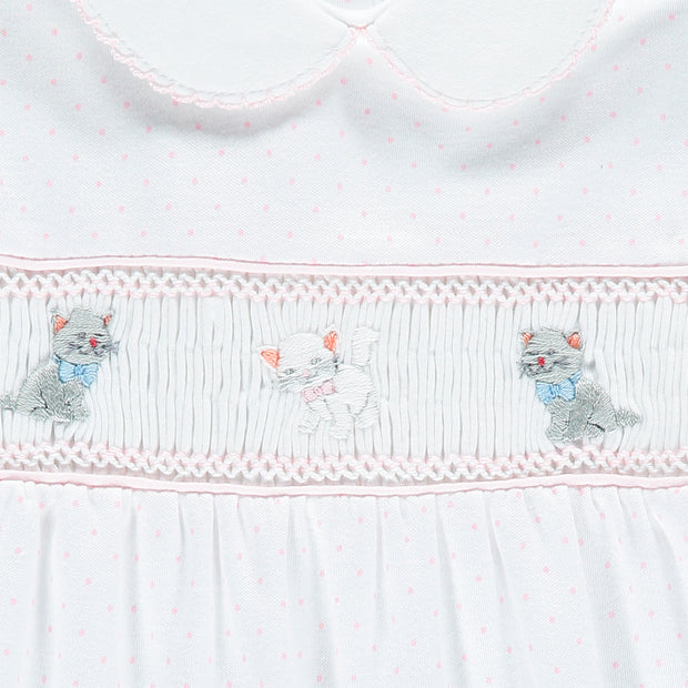 Kittens Hand-Embroidered Babygrow