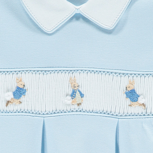 Blue Peter Rabbit Smocked Babygrow