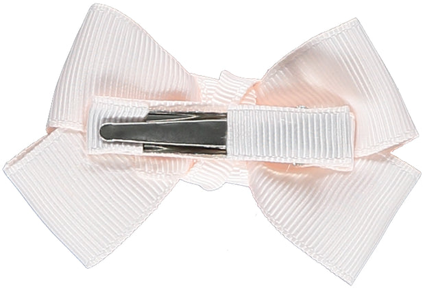 Silky Lace Pink Bow Hair Clip